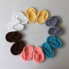 New Born Photography Props Hand crochet Baby Slippers Baby Photo Props Shoes Newborn Fotografia Baby Photography Accessories(China)