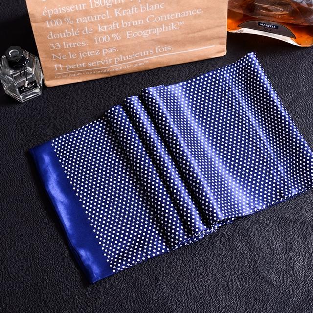 New Vintage Silk Scarf Men Fashion paisley Flowers Pattern Print Double Layer Silk Satin Neckerchiefs #4040