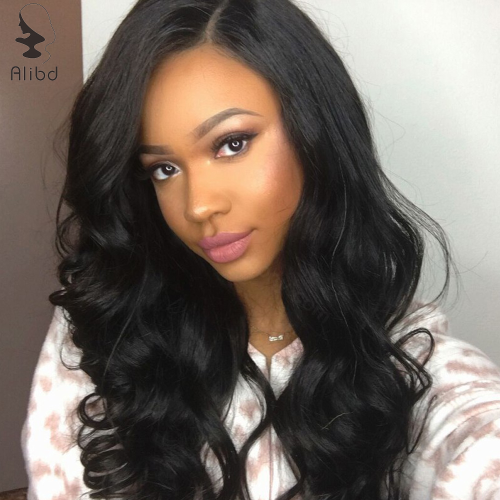 Alibd 13*4 Lace Front Human Hair Wig 150% Density Body Wave Brazilian Human Hair Wig Pre Plucked With Baby Hair Remy Hair Wigs