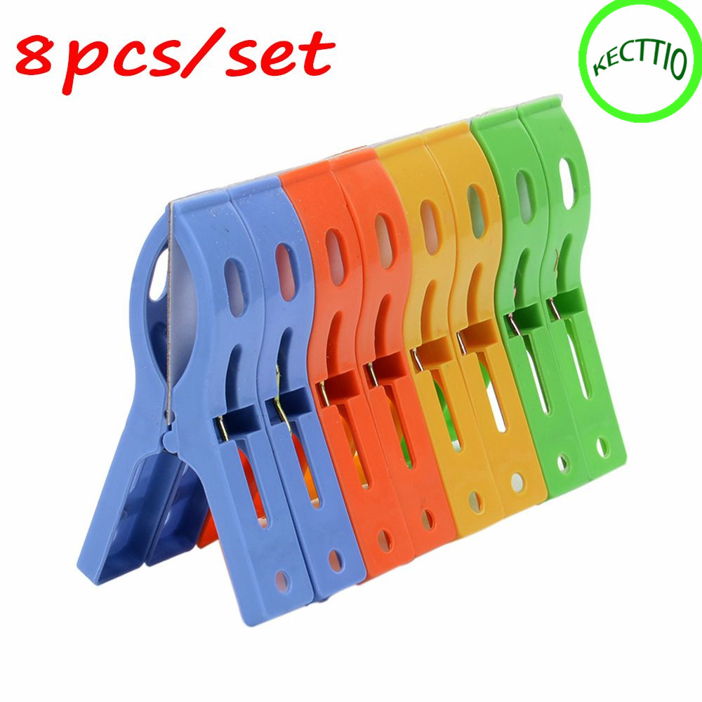 Sturdy Non-Slip Wide Open Plastic Clothespins for Air-Drying Clothes J
