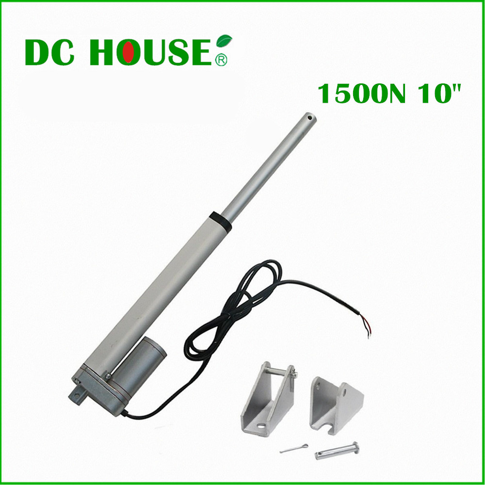 250mm/10inch Stroke Heavy duty DC 12V 1500N/330lbs Load Linear Actuator multi-function 10 Electric Motor free shipping 200mm 8inch stroke heavy duty dc12v 900n load linear actuator multi function 10 motor with bracket