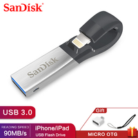 SanDisk Pen Drive 32GB SDIX30N USB Flash Drive 64GB USB 3.0 OTG Lightning Memory Stick Mini Pendrives for iphone ipad and PC 32G