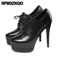Женские туфли лодочки со шнуровкой на шпильках для стриптиза, экзотических танцев, туфли лодочки на платформе с круглым носком, туфли ручно