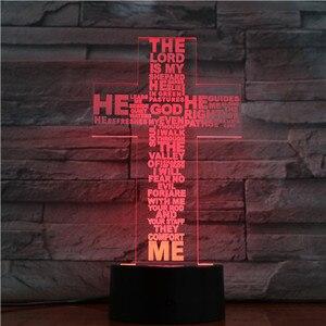 Image 3 - Jesus Christ Cross Shaped Usb 3d Led Night Light Mom Mother Gifts Christian Believer Desk Table Lamp Bedroom Neon Nightlight
