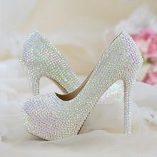 נשים חתונה נעלי אישה עקבים גבוהים משאבות בלינג הניצוץ פלטפורמת נעלי גבירותיי המפלגה שמלת נעלי הגעה חדשה אופנה גבוהה נעליים