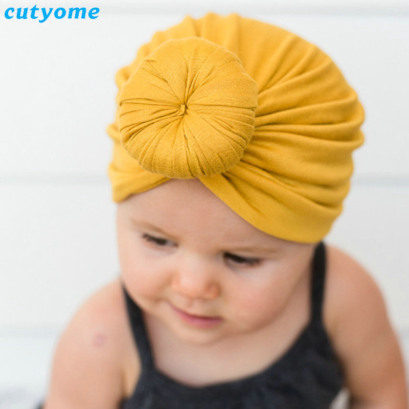 Baby Newborn Boys Girls Cotton Hat Infant Kids Cute Cap Outdoor Beach Beanie Bonnet For New Born Candy Color Photography Props
