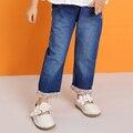 Niños Pantalones de Las muchachas 2017 Nuevos Pantalones de Mezclilla Vaqueros Ocasionales De La Muchacha de Los Niños Para Niña Pantalones Niño Ropa W6098
