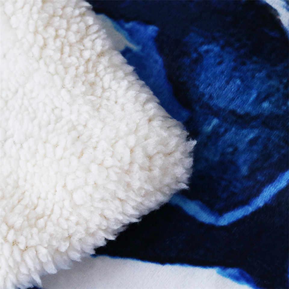 Yin et Yang Dragon jojoesart Enfants Adultes Sherpa polaire fourrure à capuche Blanket Throw