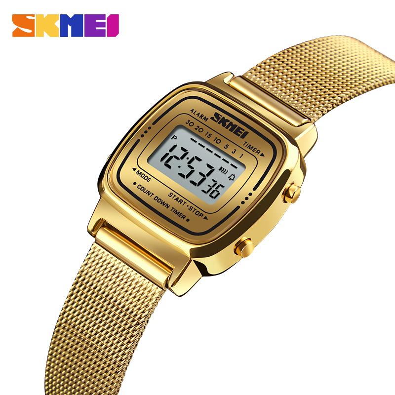 SKMEI Fashion Sport Watch Women Top Brands Luxury 3Bar Waterproof Ladies Watches Alarm Clock Digital Watch Relogio Feminino 1252
