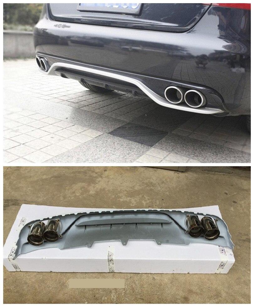 Pour audi a4 b8 2009 2010 2011 2012 arri re lip spoiler haute qualit brand new abs voiture pare chocs diffuseur auto accessoire