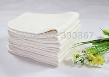 [Sigzagor]30/lot Bamboo Insert Washable Reusable Baby Cloth Diapers Nappies Inserts 4 Layers(China)