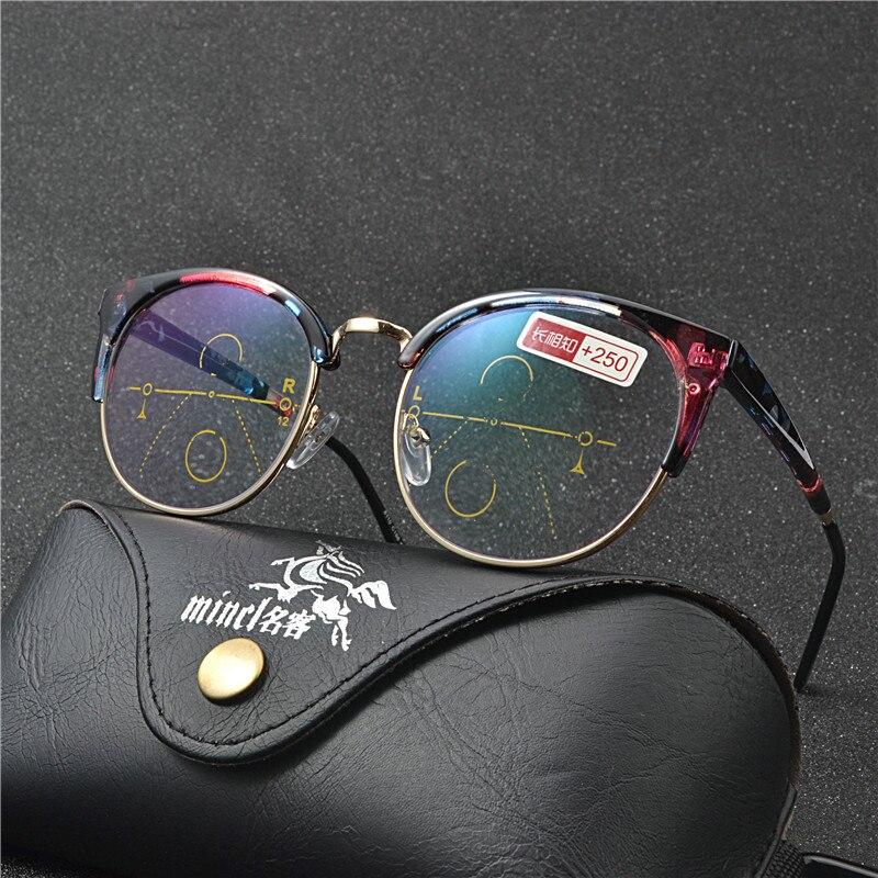 Óculos óculos de Sol De Transição Photochromic Multifocal progressiva Óculos  De Leitura mulheres Pontos para o 0136028e5f