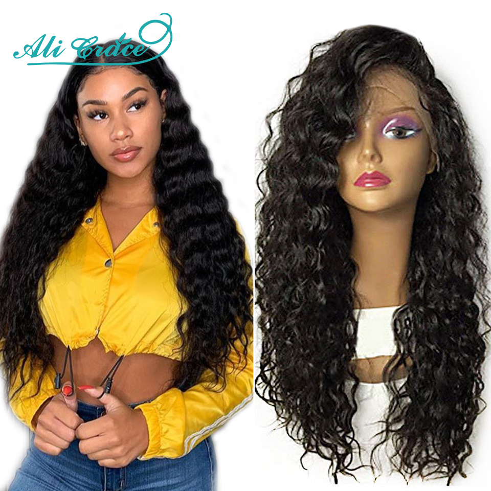 Ali Grace Hair Lace Front Human Hair Wigs for Women Brazilian Loose Wave Remy Hair Wig