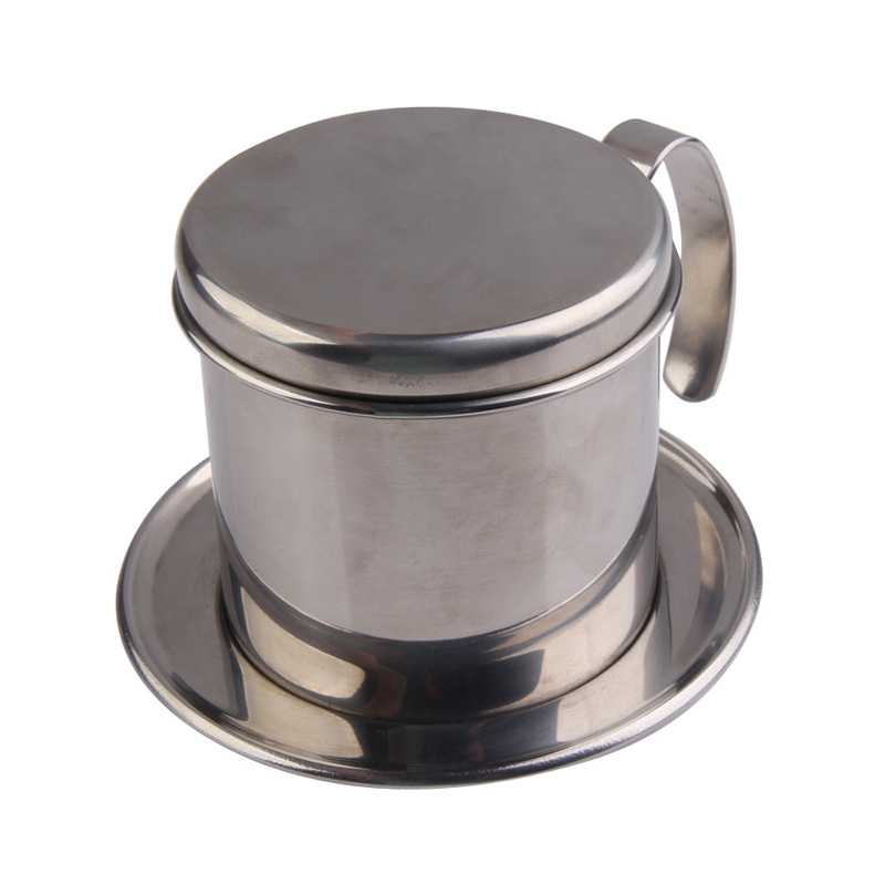 Stainless Steel Vietnamese Coffee Drip Cup Filter Maker Strainer Coffee Mug Cup Jug Home Office Useful Coffee Tool