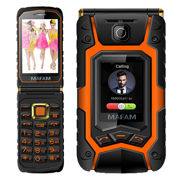MAFAM X9 Land Flip Rover phone Double dual Screen Dual speaker Dual SIM Card one-key dial long standby 2500mAh FM mobile phone