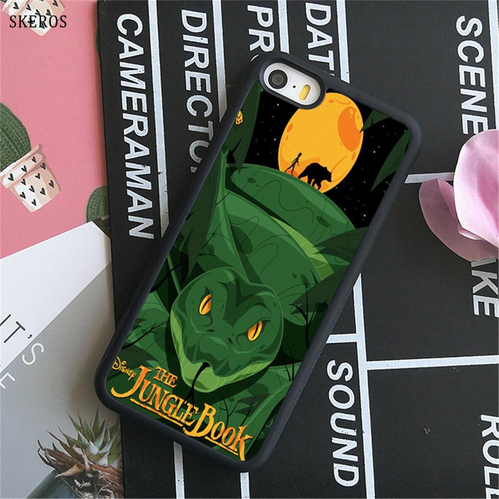 SKEROS The Jungle Book 9 phone case for iphone X 4 4s 5 5s 6 6s 7 8 6 plus 6s plus 7 & 8 ...