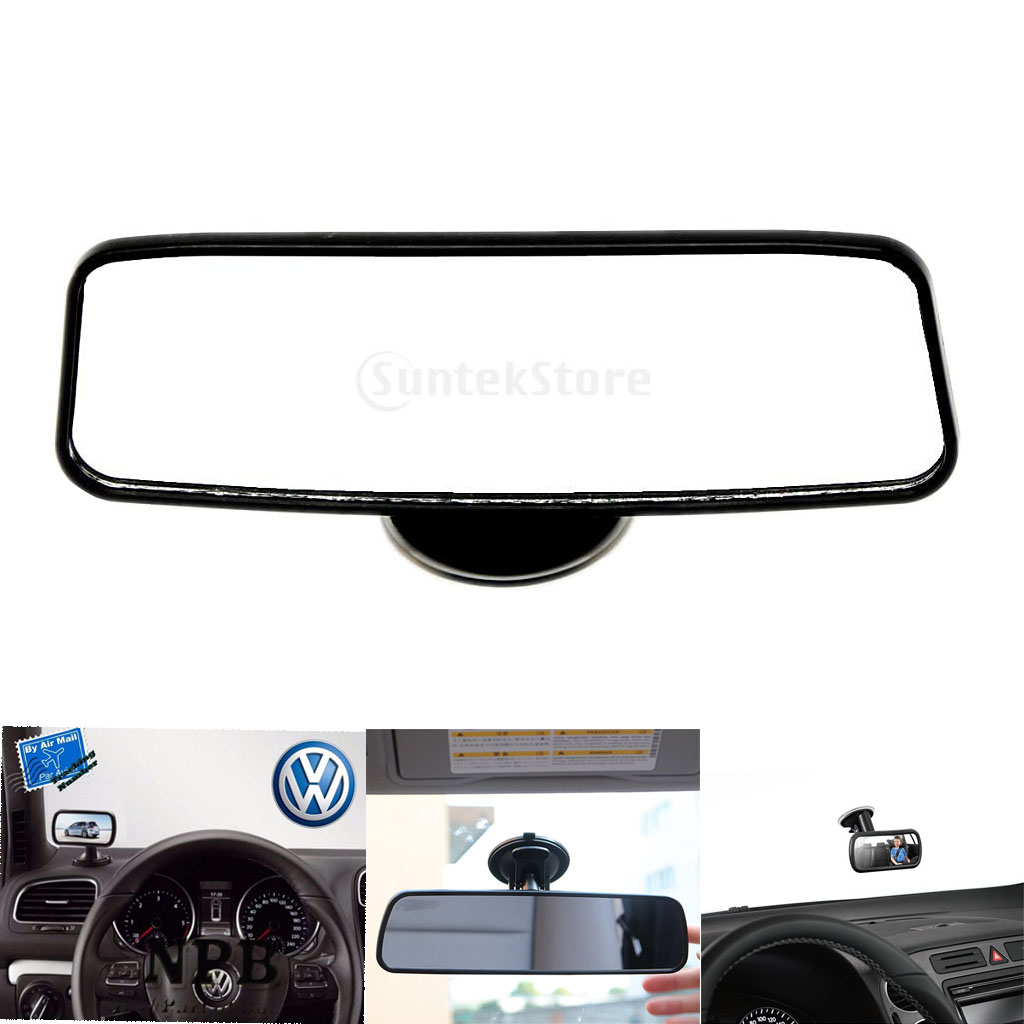 Auto Anti-glaring  Mirror Interior Truck Car Wide Rear View Adjustable Suction Cup Windscreen Vehicle