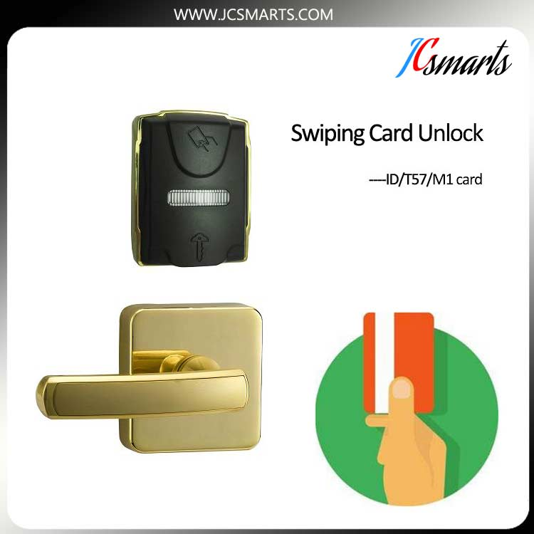 keyless electronic hotel rfid card magnetic reader lock digital electric best rfid hotel electronic door lock for flat apartment