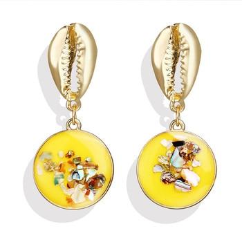 Geometric Shell Earrings For Women Earrings Jewelry Women Jewelry Metal Color: CS1907050950