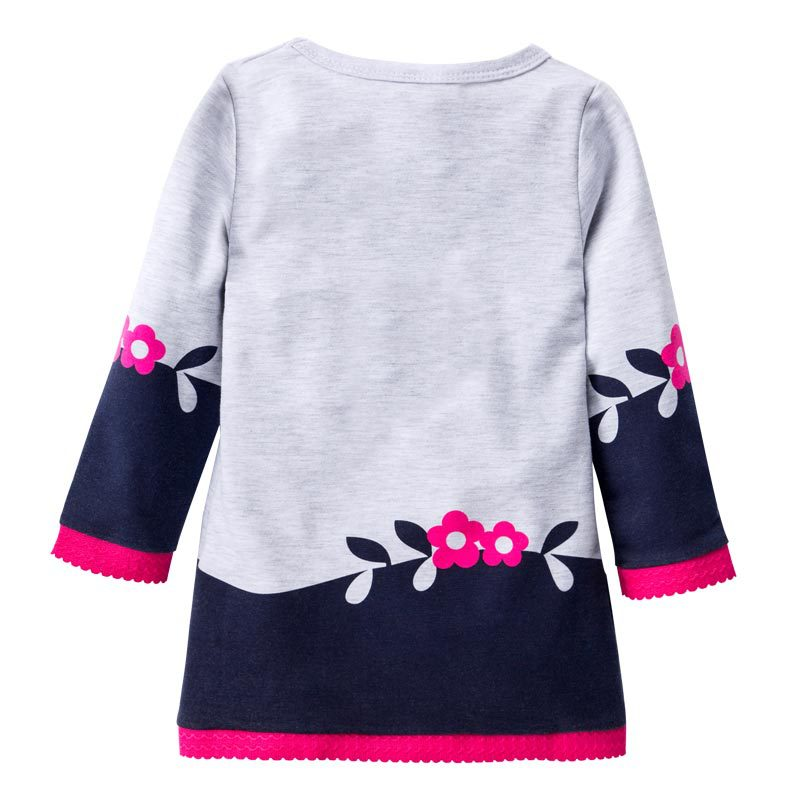 Girl Dress Kids Clothes 2018 Brand Autumn Princess Dress Baby Tunic Animal Printing Girls Long Sleeve Dresses Children in Dresses from Mother Kids