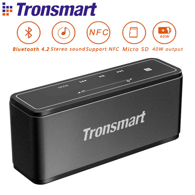 Tronsmart Element Mega Mini Bluetooth Speaker Portable Wireless Speaker Outdoor 3D Digital Sound 40W Output for IOS Xiaomi bv200 portable wireless bluetooth speaker outdoor pocket stereo speaker