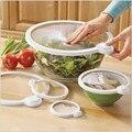 Smart Lids -Vac Seals Microwaveable Lids - 4 Pack,vacuum Sealer Smart Lidz Food Lids Fruit Cling Film Plastic 4 Pc Sealer Lids