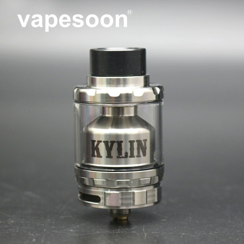Vapesoon Kylin RTA Zerstäuber 2 ml/6 ml Vape Verdampfer Tank Airflow Löcher Single & Dual Coil für e -zigarette Mod squonk box
