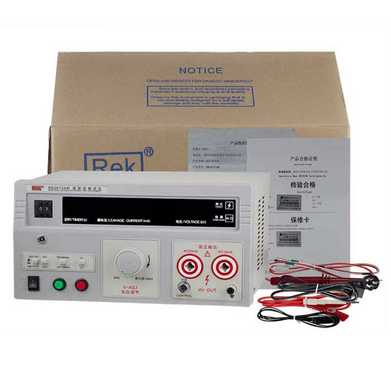 Rek High Accuracy AC DC 5KV Withstanding Voltage Tester pressure Hipot tester RK2672AM