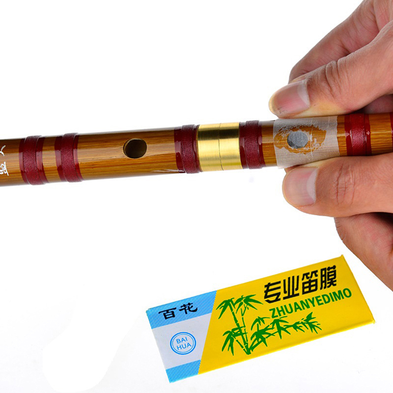 1/5/10Pcs Dimo Special Natural Bamboo Flute Chinese Flute Diaphragm Dizi And Metal Flauta Membrane