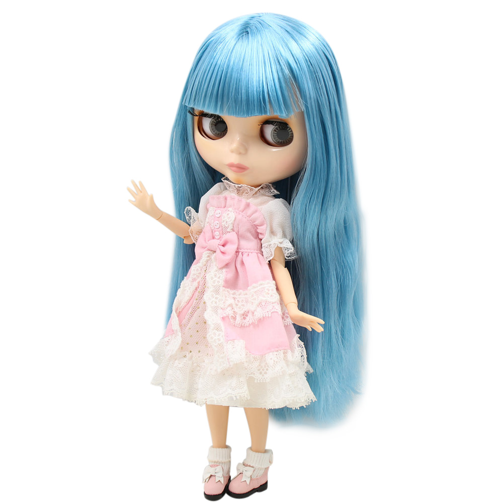 Dolls Dedicated Icy Nude Factory Blyth Doll Series No.bl1657 Blue Hair With Natural Skin Joint Body Neo Bjd Toys & Hobbies