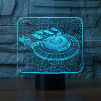 3331 New Star Trek In The Sky 3D Atmosphere Lamp 7 Color Changing Visual Illusion LED