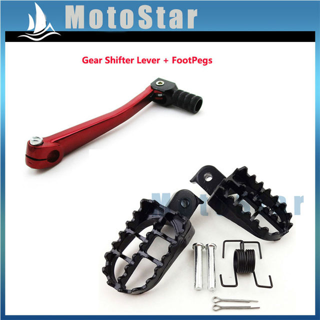 US $18 19 30% OFF Foot Rest 11mm Gear Shifter Lever For Chinese 50cc 70cc  90cc 110cc 125cc Pit Dirt Bike SSR Stomp Thumpstar DHZ BSE-in Foot Rests