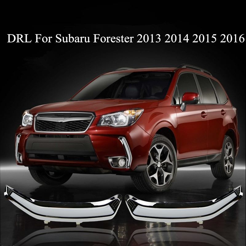 LED Daytime Running Light For Subaru Forester 2013 2014 2015 2016 with Turning Light & Dimmer Function Brand New Quality Assured