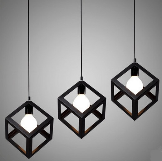Nordic Loft Style LED Pendant Light Fixtures Vintage Industrial Lighting For Dining Room Bar Hanging Lamp Lustres Pendentes iron cage loft style creative led pendant lights fixtures vintage industrial lighting for dining room suspension luminaire