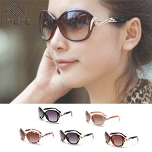 TTLIFE 2019 Fashion Big Frame Sunglasses Women Luxury Sun Glasses For Travel Classic Vintage Ladies Oculos De Sol YJHH0174