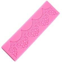 Кружевной коврик, декоративная силиконовая форма в виде цветов для мастики, инструменты для выпечки, инструменты для выпечки, Украшение Тор...