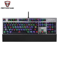 Motospeed CK108 механическая клавиатура USB Проводная игровая клавиатура синий/черный переключатель с RGB подсветкой для настольного ноутбука