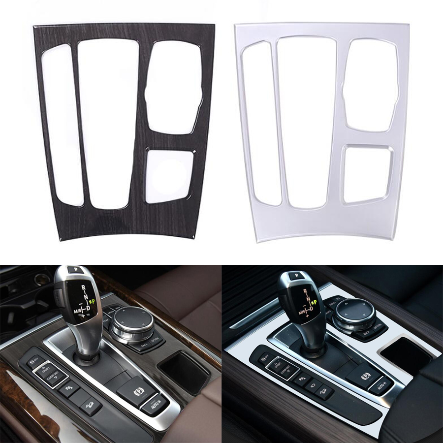 YAQUICKA Car Interior Console Gear Shift Panel Frame Trim Cover Bezel Styling For BMW X5 F15 2014-2017 X6 F16 2015-2017 LHD ABS accessories for bmw x5 f15 2014 2016 x6 f16 2014 2017 abs rear armrest box decoration molding cover trim 2 pcs set