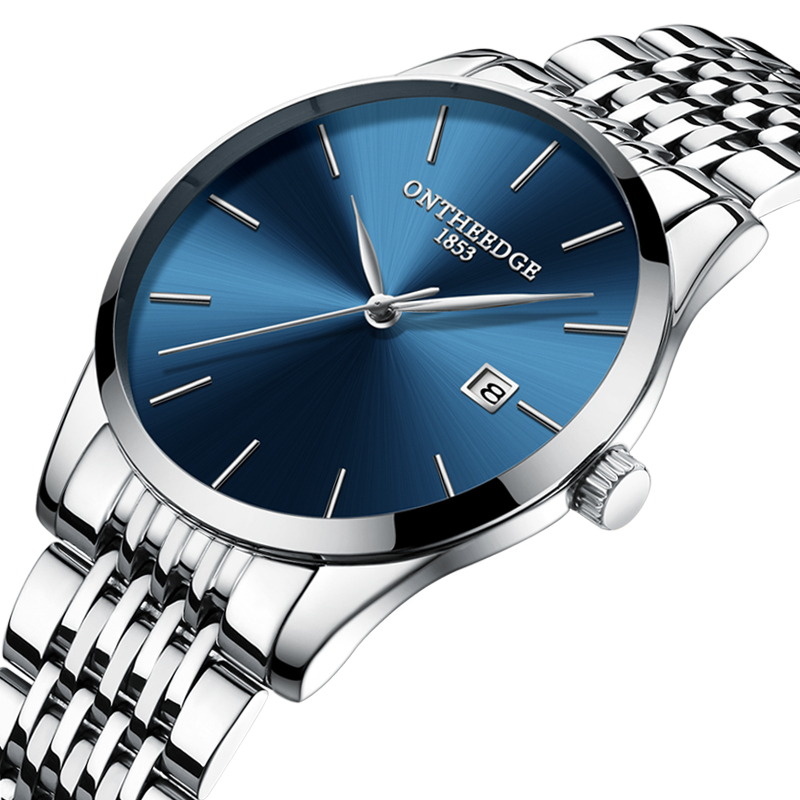 Ultra Thin Waterproof Men 39 s Watch Fashion Watch For Men Luxury Quartz Man Watches Stainless Steel Watch Men Boys Birthday Gift in Quartz Watches from Watches
