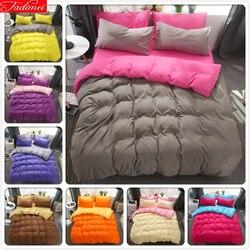 Zwięzłe pościel zestaw bawełna 3/4 szt dla dzieci dziecko Bed pościel 150x210 180x220 200x230 220x240 kołdra pokrywa zwykły kolor królowej King Size