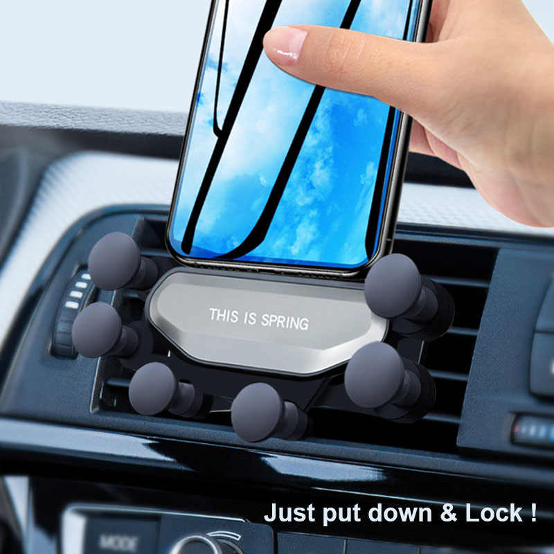 Mobile Car Mount Phone Holder for Huawei P10 P20 P30 Pro Honor 8X 9 10 20 30 Lite Universal Gravity Airvent Mount Car Holder Pakistan