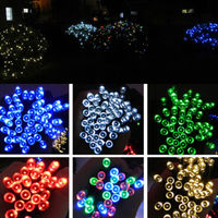 12M 100 LED Solar Panel Powered Fairy String Lights Lamp For Outdoor Garden Home Christmas Wedding