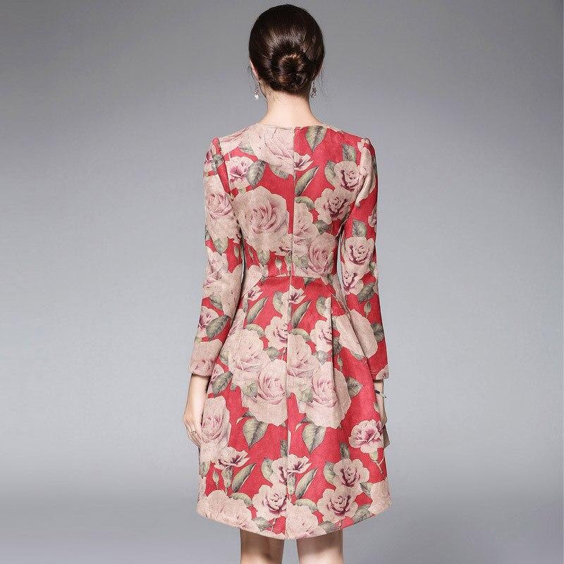 Robe Manches Robes Femmes Femme Vintage Imprimé D'été Longues Casual 2018 Mini À Asymétrique Floral Partie Piste wZqCfa