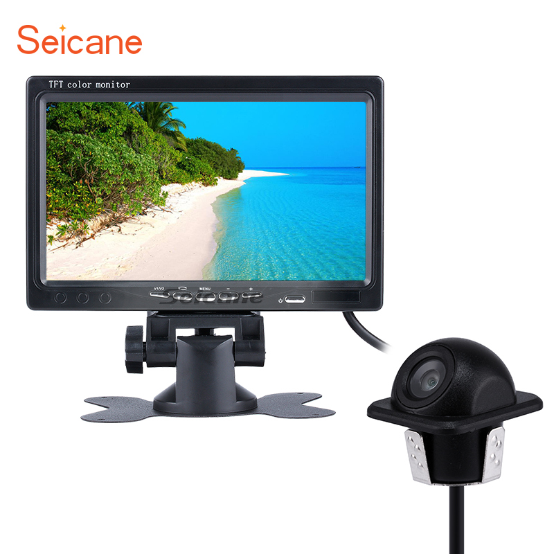 Seicane Universal Reverse System HD 1024*600 TFT LCD Car Auto Parking Monitor Backup Digital Video Recoder DVR Rearview Camera ...