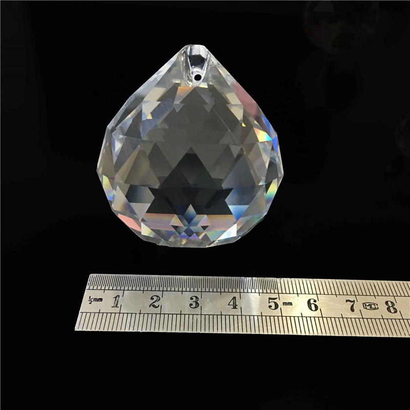 100pcs 50mm Crystal Chandelier Ball Faceted Balls For Glass Lamp Lighting Decoration