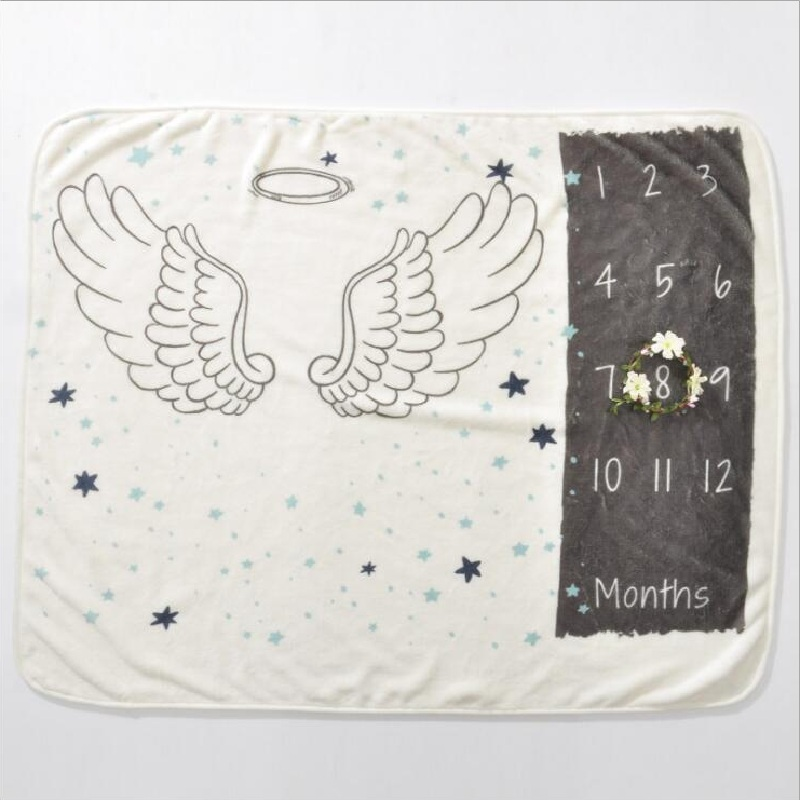 Cute Nordic Style Multi-functional Baby Birth Commemorat Photo Props Blankets Play Mats Infant Bath Towel Kids Bed Room Decor | Happy Baby Mama
