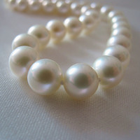Eternal wedding Women Gift word 925 Sterling silver real 9 10mm Taihu natural freshwater pearl necklace round little white genui