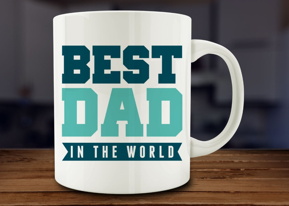 Best Dad In The World dad mug home decal Tea art friend gift wine milk beer