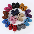 Real Leather Baby winter Boots Warm Baby shoes Tassel With Fur Bbay boy Girls boots Baby moccasins 11-14.5cm