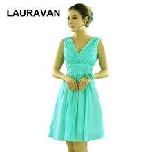 classy fashionable turquoise green knee length girls sexy V neck chiffon  bridesmaid dress party club dresses 3ce585c2821b